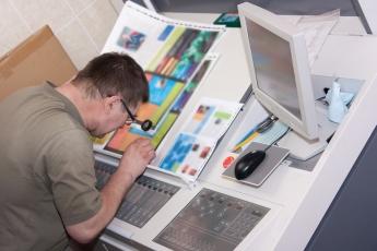 Printer checking aprint run